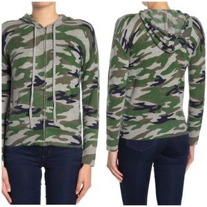 The Cashmere Project Camo Hoodie Sweater Small